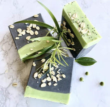 Load image into Gallery viewer, Charcoal Tea Tree Handmade Soap with Oatmeal - Zemala Natur'el