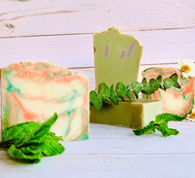 Load image into Gallery viewer, Disinfecting Hand Sanitizing Handmade Soap Bars - Zemala Natur'el