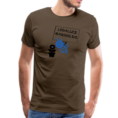 Legalize Marigolds - Men's Premium T-Shirt - noble brown