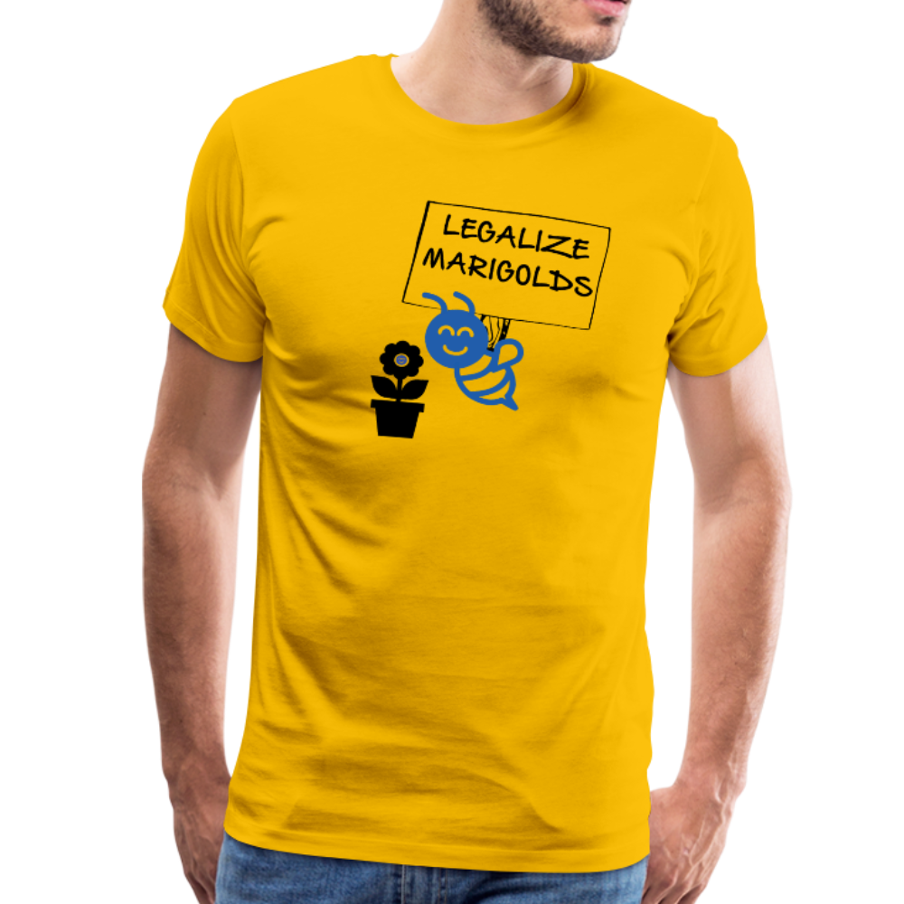 Legalize Marigolds - Men's Premium T-Shirt - sun yellow
