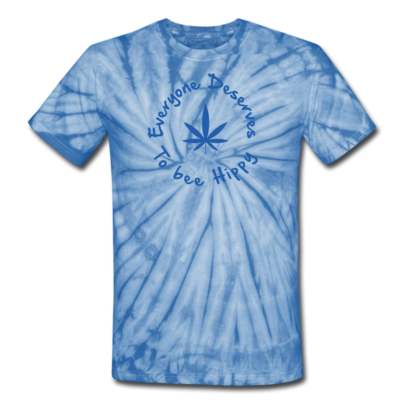 Everyone Deserves to bee Hippy (Unisex) Tie Dye T-Shirt - spider baby blue