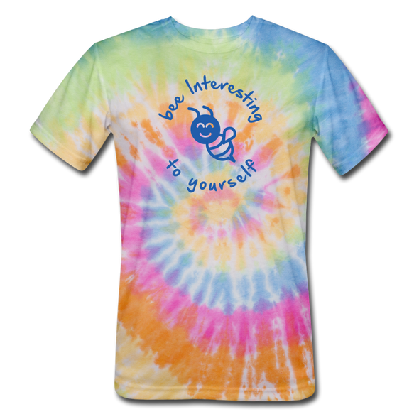 bee interesting to yourself (Unisex) Tie Dye T-Shirt - rainbow