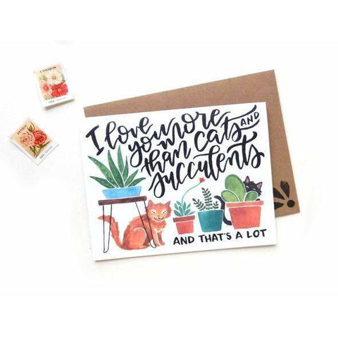 Cats & Succulents Card