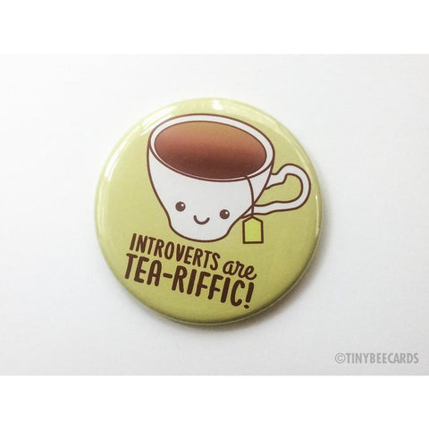 Introverts are Tea-riffic Pocket Mirror