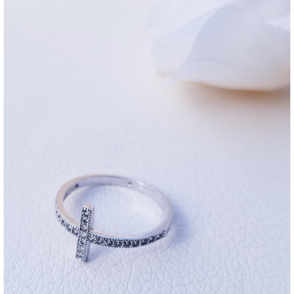 Delicate Cross Ring
