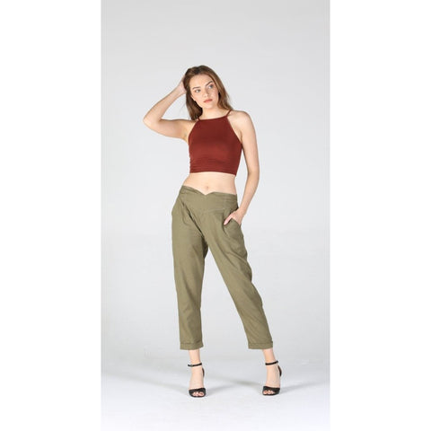 Flax Green Pants
