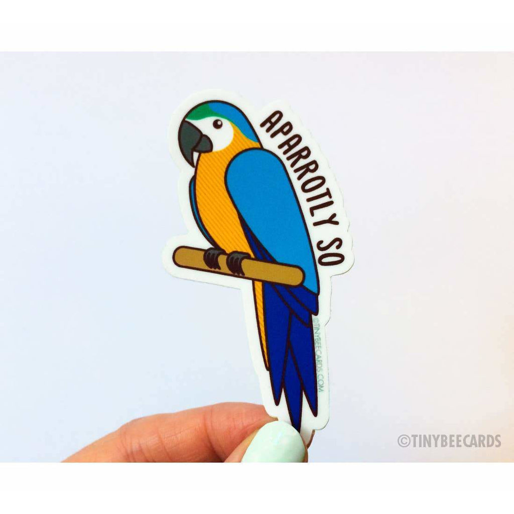 Tiny Bee Cards - Funny Parrot Vinyl Sticker