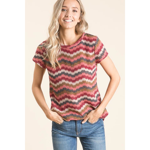 Chevron Knit Tee