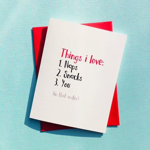 Things I Love Card