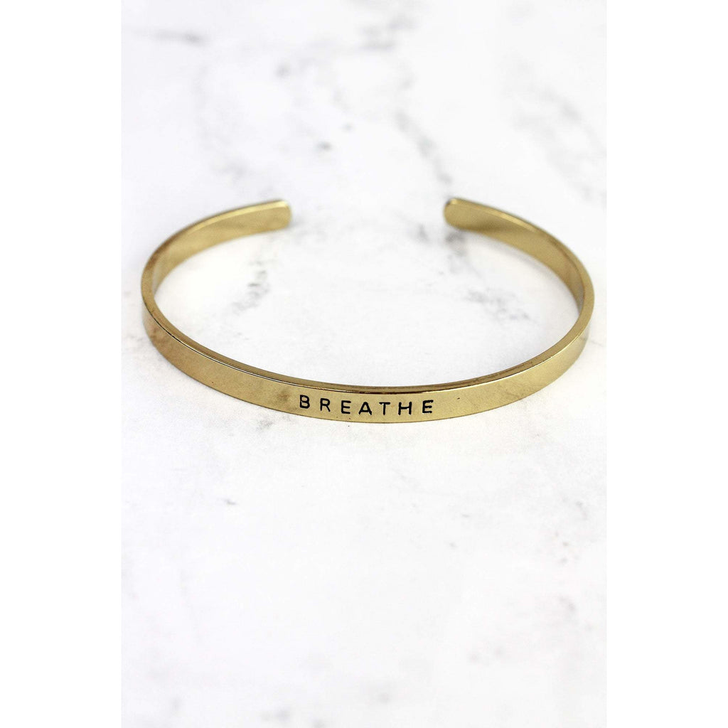 Inspirational Breathe Bracelet