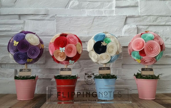 LARGE : Potted {Blossoms} in 4 Colourways