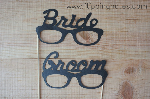 {Photo Booth Props} Bride & Groom