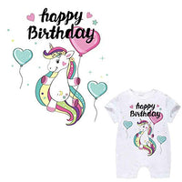 Unicorn Patches Appliques Unicorn Iron On Transfers for Birthday Girl 5 Pcs Small Cute Decorations Stickers for Canvas Bag, Unicorn Accessories, Baby's Clothing