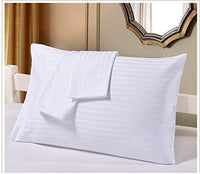 Travel Pillowcase 12X16 500 Thread Count Egyptian Cotton Set of 2 Toddler Pillowcase With Zipper Closer White Solid With 100% Egyptian Cotton (Toddler Travel 12X16 White Solid)