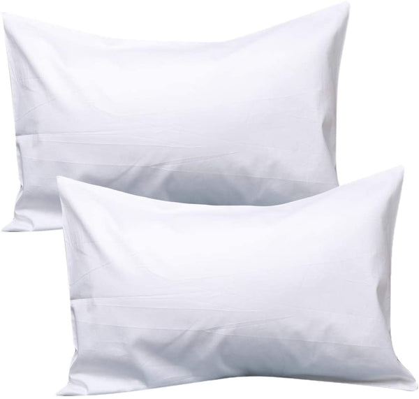 UOMNY Kids Toddler Pillowcases100% Natural Cotton Travel Pillowcase Cover with Envelope Closure 2 Pcs 14x20 Baby Pillow Cases for Sleeping Tiny Pillows case for Kids Solid White Kids' Pillowcases