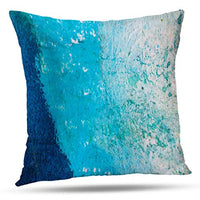 Alricc Set of 2 Turquoise and Grey Art Artwork Contemporary Decorative Gray Home Decorative Throw Pillows Covers Cushion Cover for Bedroom Sofa Living Room 18X18 Inches