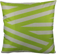 All Smiles Outdoor Green Decorative Throw Pillow Covers Cases Cushion Home Decor Accent Square 18 x 18 Set of 4 for Patio Couch Sofa,Lime Green Geometric