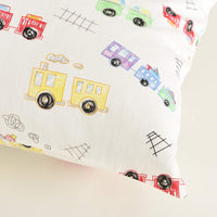 Kids Toddler Pillowcases-2 Pack Pillow Cover for Boys Girls Kids Bedding,Animal Paradise/Car