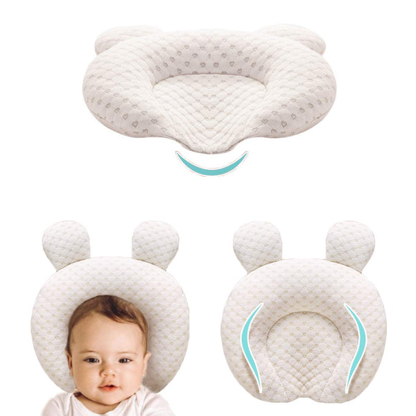 XMWEALTHY Infant Support Head Pillows Soft Baby Nursery Pillows Unisex Newborn Head Shaping Pillow Support Head Sleep Pillows 0-12 M