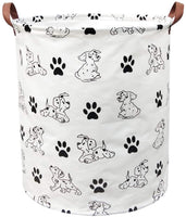 BOOHIT Storage Baskets,Canvas Fabric Laundry Hamper-Collapsible Storage Bin with Handles,Toy Organizer Bin for Kid's Room,Office,Nursery Hamper, Home Decor (Small Bells)