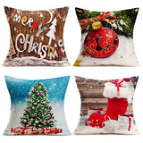 Smilyard Set of 4 Cotton Linen Throw Pillow Covers 18X18 Inch Mexican Tiles Couch Pillow Covers Colorful Petal Design Rustic Pillowcase Tiles Cushion Cover Decor Home Sofa (Mexican Tiles)