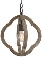 Wood Farmhouse Style Chandelier Chandeliers Wood and Metal Ceiling Pendant Hanging Light Fixture Home Decor Lighting (Distressted)