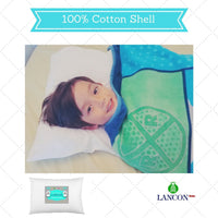 Toddler Pillow with Pillowcase by LANCON Kids - White 13 x 18, 100% Cotton, Premium Quality, Soft Hypoallergenic & Machine Washable. Perfect Small Pillow for Kids Age 2+