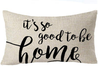 "FELENIW Best Blessing To Family It's So Good To Be Home Throw Pillow Cover Cushion Case Cotton Linen Material Decorative Lumbar 12"" x 20'' inches"