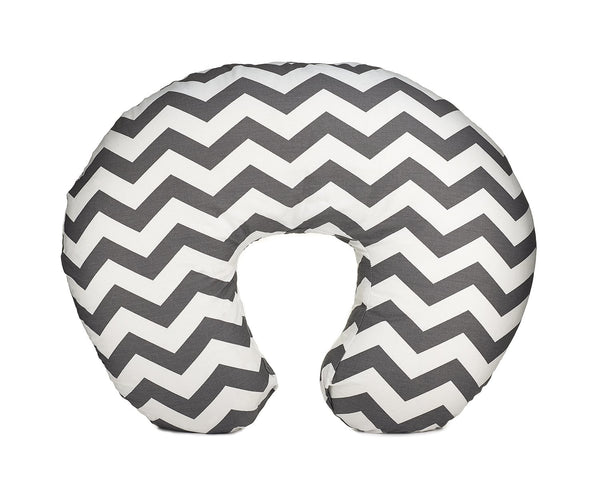 Org Store Premium Nursing Pillow Cover | Slipcover for Breastfeeding Pillows | Fits Boppy Pillows | Chevron Patterned (Gray)