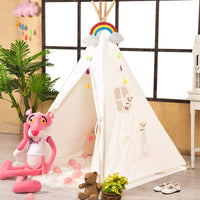 Sumbababy Teepee Tent for Kids with Carry Case, Natural Cotton Canvas Teepee Play Tent, Toys for Girls/Boys Indoor & Outdoor Playing.