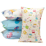 "Biubee 4 Packs (14""X 21"") Toddler Pillowcases - Fits Pillows Sized 12x16, 13x18 or 14x19, Natural Organic Cotton Pillow Cover Envelop Style for Baby, Infant and Kids"