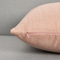 "NATUS WEAVER Linen Cushion Cover Throw Pillow Case for Sofa/Bench/Couch, Baby Pink, 12"" x 20"", 2 Pieces"
