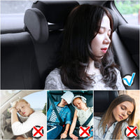 Car Headrest Pillow, Hswt Car Neck Pillow Head Pillow, Sleeping Travel Car Seat Pillow, Car Neck Head Shoulder Sleep Cushion Car Side Pillow for Kids Adults Elders