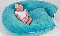 The 4 in 1 New One Z Teal Nursing Pillow w/Amazing Back Support- Teal Cover!