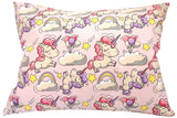 Kids Toddler Pillowcase 13x18 by Comfy Turtles, 100 Natural Cotton, Soft Pillow Cover for Wonderful Sleep and Dreams, Design for Boys and Girls (Pink Stars)