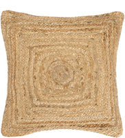 Labhanshi Indian Braided Natural Jute Hand Woven Cushion Cover Pillow for Home Decor Decorative Bohemian Boho Cushion Cover Pillow 18x18 Inch