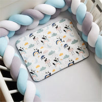1M/2M/3M Baby Bumper Bed Newborn Knotted Braid Bumper for Boy Girl Bebe Bed Protector Knot Crib Bumper Room Decor