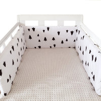 150cm*30cm Nordic Stars Design Baby Bed Thicken Bumpers One-piece Crib Around Cushion Cot Protector Pillows Newborns Room Decor