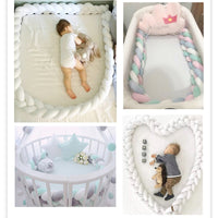 1M/2M/3M 3 Knot Soft Baby Bed Bumper Crib Pad Protection Bedding for Infant Cotton Colorful Pillow Bumpers For Baby Room Decor