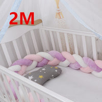 100cm Baby Bed Bumper Knot Warkocz Do Lozeczka Bed Bumper Bed Braid Knot Pillow Cushion Baby Bed Crib Bumper