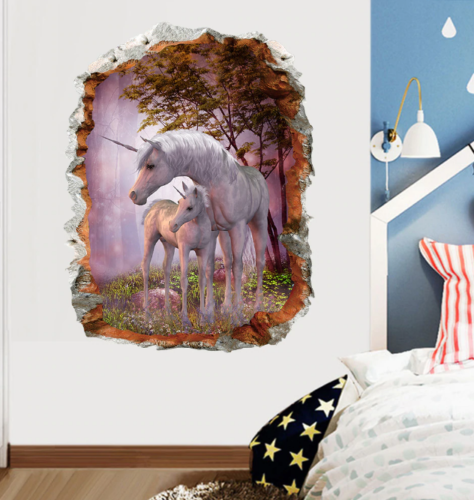 3D Horse Wall Stickers Mural Art 3D Decals Removed Wallpaper Decor Living Room