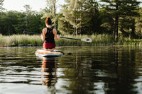 Paddling stand up paddle board lake activity outdoors yoga SUP