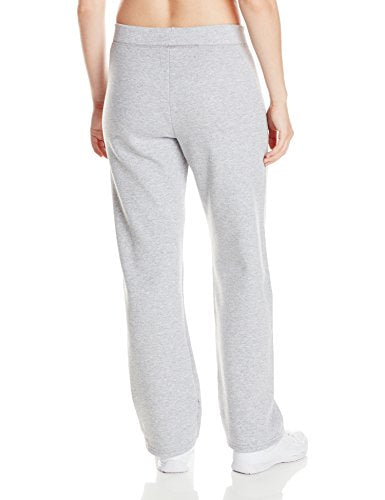 Hanes womens ComfortSoft EcoSmart Women's Petite Open Bottom Leg Sweatpants Light Steel X-Large Petite