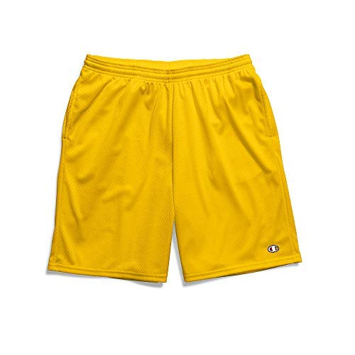 Champion Men's Long Mesh Short with Pockets, team gold, XX-Large