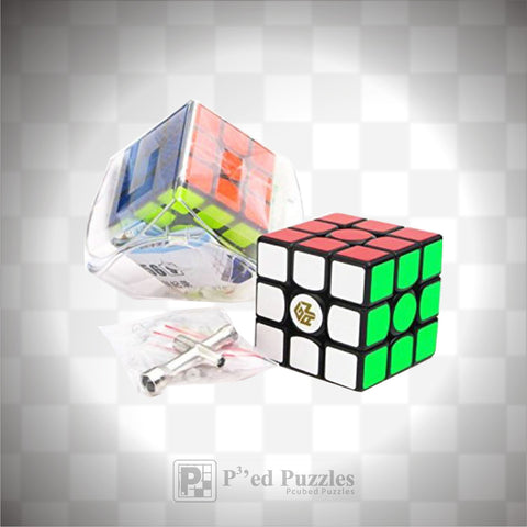 Gans 356S V2  3x3 advanced with golden logo cube - PCubed Puzzles