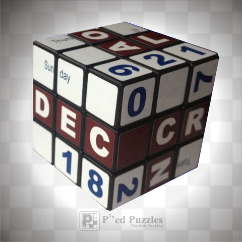 Calender Stickers - PCubed Puzzles
