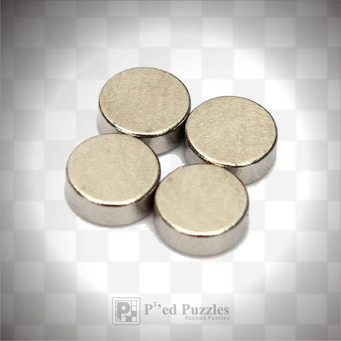 4mm x 2mm Neodymium Disc Magnets - PCubed Puzzles