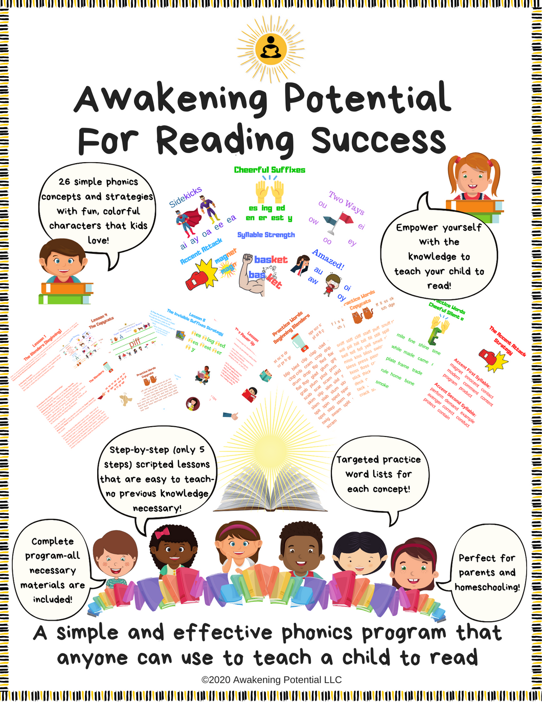 Awakening Potential For Reading Success Program (digital download in PDF format)