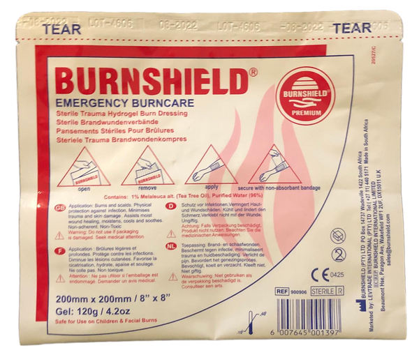 Burns Dressing (20cm x 20cm) Burns DressingBurnshield® Pty Ltd- PracMed NZ, First Aid Products NZ