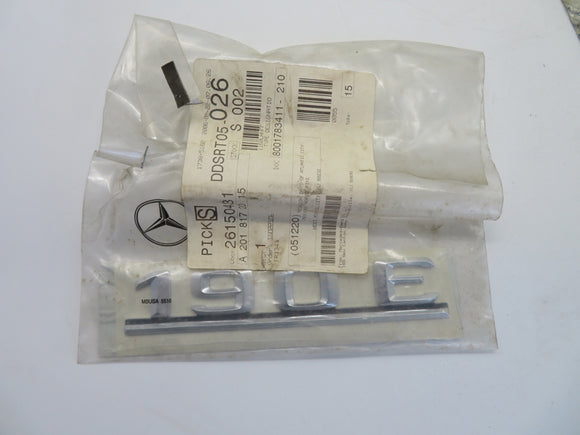 Mercedes-Benz Name Plate, Used, Part #201 817 20 15